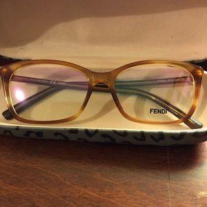 Fendi Light Havana 1020 51-15-135 eyeglass frames